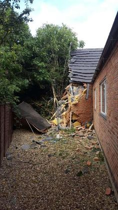A lorry has caused extensive damage to a house after it left the and crashed into the property. Tornado Damage, Leaves, Cabin, House Styles, Bliss, Plants, Twitter, Home Decor, Decoration Home