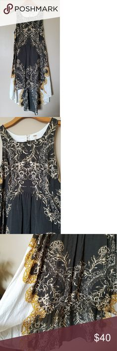Gorgeous Free People Russian Plate Dress Gorgeous Free People Russian Plate high low lace back dress! The design and details on this are absolutely gorgeous!! Open back rose lace detail with side zip and double button  back closure at neckline. Worn once for photos, EUC! Thanks for looking! Free People Dresses