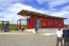 The Vissershok School is a Colorful Shipping Container Classroom for Kids in South Africa