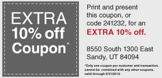 Overstock.com Outlet  Sandy - 8550 S 1300 E  Save 20-80% on their already low online prices. t-f 11a-6p and sat 9-5 closed s/m