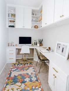 Tiny Home Office, Small Office Design, Small Home Offices, Small Space Office, Small Room Design, Home Office Design, Home Office Decor, Small Apartments, Home Decor