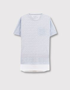 T-shirt estampada painel inferior - Blusas - Vestuário - Homem - PULL&BEAR Portugal