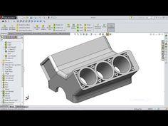 SolidWorks Tutorial Engine Block - YouTube