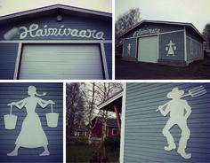 Autotallin seinä Kiuruvedellä. Garage in Kiuruvesi.