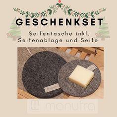 Es ist nicht mehr lange bis Weihnachten.🎄 Habt ihr schon alle Geschenke?  Mit unserem Dezember Angebot habt Ihr auf jeden Fall ein nachhaltiges und langlebiges Geschenk: das Seifentaschen-Geschenkset aus 100% Schurwolle.  #manufra #nachhaltigkeit #ökologisch #handmade #geschenkset #weihnachten #geschenkideen #schurwolle #madeingermany #weihnachten2019 #seifentasche #seife Home Decor, December, Sustainability, Felting, Home Decor Accessories, Handarbeit, Christmas, Decoration Home, Room Decor