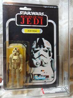 1983 Star Wars ROTJ AT-AT Driver 65 Back-B MOC AFA 85 (C85, B85, F85)