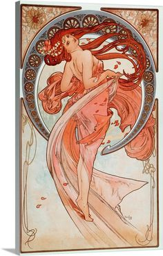 La Danse Lithographs Series By Alphonse Mucha