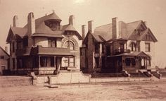 On the right, the Denver home of Margaret 'Molly' Brown.