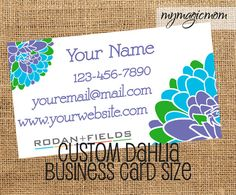 Rodan and Fields Consultant Business Card  Custom  by MyMagicMom
