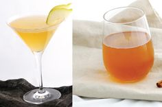 Pear Vanilla Sparkler and a Warm Rum Punch
