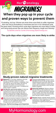 When cycle-related migraines are most likely to strike--and how to prevent them!