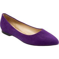 Women's Trotters Estee - Purple Suede Casual