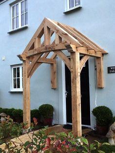 Front Porch Pergola, Door Canopy Porch, Porch Awning, Front Porch Railings, Porch Roof, Diy Porch, Porch With Canopy, Porch Overhang, Porch Ideas