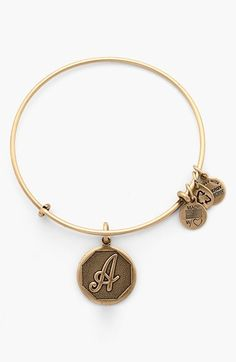 Alex and Ani 'Initial' Adjustable Wire Bangle available at #Nordstrom (s) (my 2nd initial)