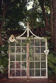 french door wedding backdrop by Shauna Mailloux