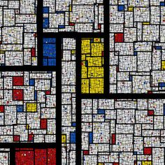 "Saatchi Art Artist Samuel Monnier; New Media, ""20110122-2 (Fractal Mondrian)"" #art #InspiredbyMondrian"
