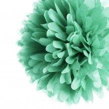 """14"""" Mint Green Tissue Paper Pom Poms BULK (Set of 4) $7.35"""