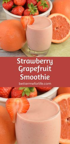 Not only does this strawberry grapefruit smoothie taste amazing, this smoothie is packed with vitamin C to give your immune system a boost! Find the recipe on BetterMeforLife.com
