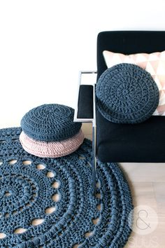 Beautiful hand crochet rug by ensuus on Etsy, €145.00
