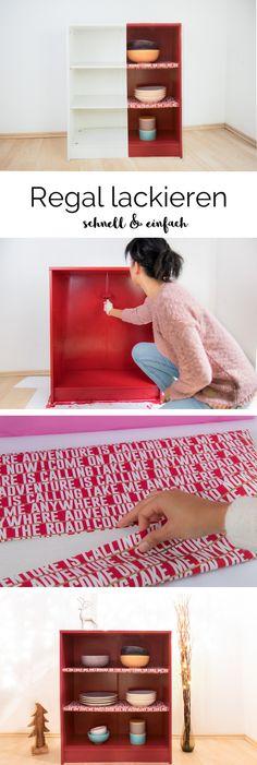#DIY #Werbung Vorher / Nachher Möbelumgestaltung. Ich Habe Dieses Weiße  Regal Mit Dem