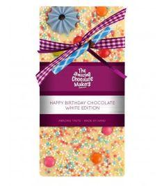 Luxus Schokolade Weiss Happy Birthday 100 g von GOURVITA