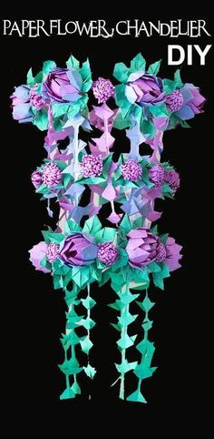 DIY Paper Flower Chandelier using Origami Techniques Heidi Swapp inspired | Handmade PaPer FloweRs by Maria Noble