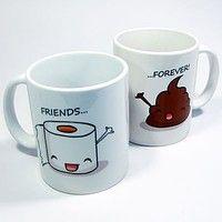 Par de canecas Friends Forever