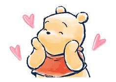 LINE Official Stickers - Winnie the Pooh & Christopher Robin Example with GIF Animation Winnie The Pooh Gif, Winnie The Pooh Drawing, Winnie The Pooh Pictures, Winne The Pooh, Arte Disney, Disney Art, Christopher Robin, Gif Mignon, Mini Canvas Art