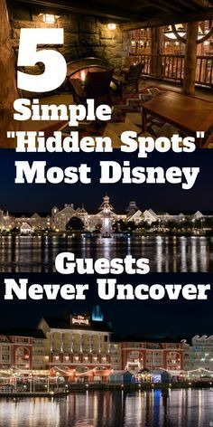 """Five Simple """"Hidden Spots"""" Most Disney World Guests Never Uncover Walt World is full of hidden gems and bucket list experiences, but today we're looking at a few Disney World Hidden Spots that the average WDW guest would overlook entirely. From Wi Disney Resorts, Disney Parks, Disney World Secrets, Disney World Tips And Tricks, Disney Tips, Disney Fun, Disney Travel, Disney Stuff, Hidden Disney Secrets"""