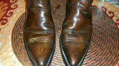 VNTG Brown Leather Western Boots by Wrangler Men's Size 9 1/2 D USA Made