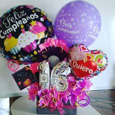 Balloon Box, Birthday Diy, Pink Candy, Diy Party, Ideas Para, Balloons, Creativity, Bouquet, Lettering