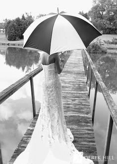 Black & White Bridal Portrait  (without the umbrella)