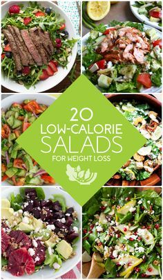 20 Low Calorie Salads for Weight Loss  Starting to eat a wholesome salad at least once a day can bring about noticeable difference in your body and help you to achieve your target weight.