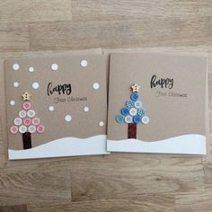 Items similar to Beautiful handmade baby's first Christmas card in either blue or pink (other colours available on request) – can be personalised on Etsy Baby's First Christmas Card, Christmas Card Crafts, Homemade Christmas Cards, Christmas Cards To Make, Babies First Christmas, Christmas Baby, Handmade Christmas, Christmas Lights, Christmas Movies