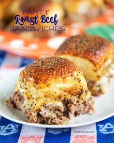 Party Roast Beef Sandwiches Recipe on Yummly. @yummly #recipe