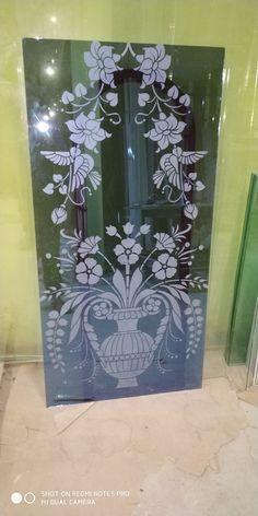 Window Glass Design, Glass Partition Designs, Glass Etching Designs, Glass Railing, Stained Glass Art, Stone Carving, Deep Blue, David, Tattoo