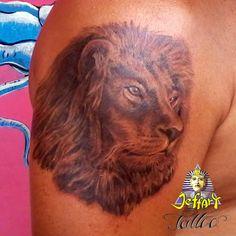 Jeffart Tattoo Studio - Tatuagens exclusivas, personalizadas com o maior profissionalismo.: Tatuagem de Leão estilo realismo.Tatuador Jeff Bar...