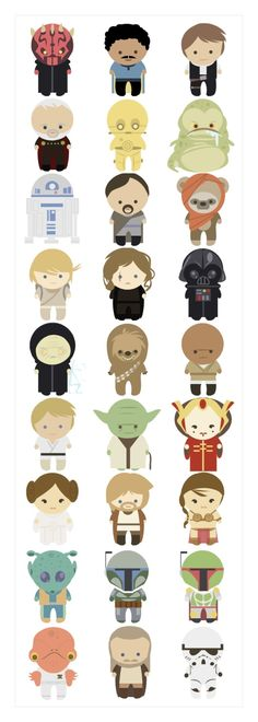 Adorable Star Wars characters