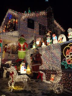 Christmas lights, Queens, NYC