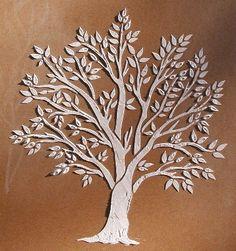 Raised Plaster Miniature Tree Stencil | VictoriaLarsen - Craft Supplies on ArtFire