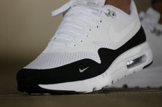 Nike Air Max 1 Ultra Essential White/Black/Wolf Grey - 819476-101