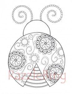 Ladybug Spring Mandala Coloring Pages 4
