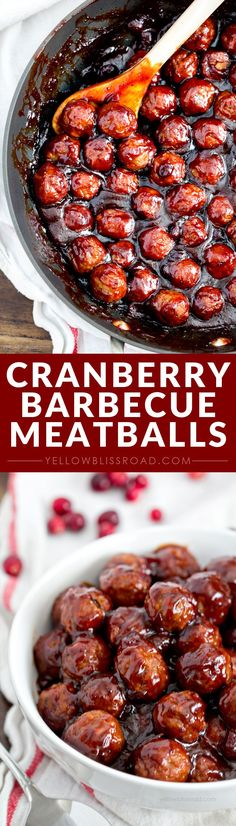 Cranberry Barbecue Meatballs - a delicious appetizer recipe that's perfect for the holidays or game day!