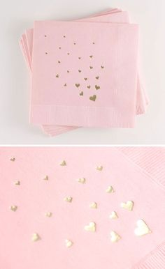 - Pack of 25 - Plush Paper Napkins - Size: x - Napkin Color: Blush - Print Color: Gold Foil Sorry, we do not offer personalization. Baby Girl First Birthday, First Birthday Parties, First Birthdays, 2nd Birthday, Birthday Ideas, Bebe Shower, Girl Shower, Pink Gold Party, Heart Party