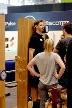Pulse Fitnessgeräte gesehen auf der Fibo 2016 in Köln Fitnesstraining