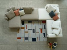 The Porter sofa is a modern sectional sofa from Italian furniture brand DellaRobbia. A reconfigurable, modular sofa for your modern living room design. Rearrange the pieces of this sectional sofa to fit your lifestyle and your room layout. It can be a smaller modern couch, or a larger sectional. It comes with removable backrests and a variety of upholstery colors. Available at Casa Spazio, a luxury furniture store in Chicago, IL www.casaspazio.com #modernfurniture #sectionalsofa #modernsofa Luxury Furniture Stores, Italian Furniture Brands, Furniture Showroom, Living Room Furniture, Home Furniture, Modern Couch, Modern Sectional, Modern Living, Large Sectional
