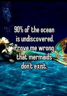 Mermaids are real! Share if you agree.