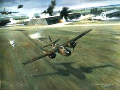 FIRST MISSION, by Nixon Galloway - The initial offensive air operation conducted by the U.S. Army Air Forces in the European Theatre was on 4 July 1942. The only unit in place was a light bomber squadron being tutored by the RAF, the 15th bomb Squadron. It had to borrow Douglas Bostons from the RAF, No. 226 Squadron. The operation called for 12 Bostons, six of which would be manned by USAAF crews of the 15th. Targets: 4 Luftwaffe airfields in occupied Holland, to be attacked at low level.