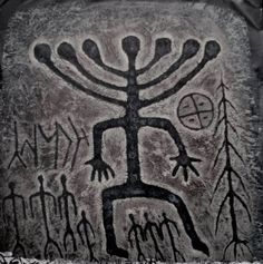 Siberia, Khakassia; Petroglyph, about 5.000 BC