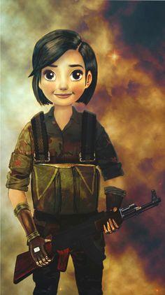 Disney digital painting and drawing from imagination Kurdish female fighter YPJ #drawing #YPJ #Kurdish